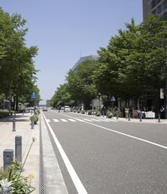 接する道路による評価減のイメージ